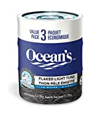 Ocean's Flaked Light Tuna in Water Multipack, 3-Count