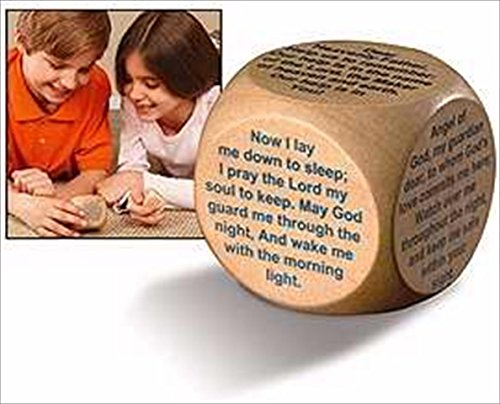 Wooden Prayer Cube Bedtime Prayers for Children and Families