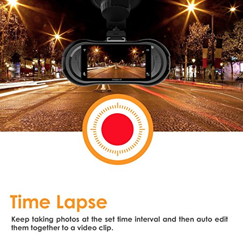 Vantrue X3 WIFI Dash Cam, Super HD 2.5K Car Dashboard Camera 1440P Car Camera with Ambarella A12 Chipset, 170°Wide Angle, Super HDR Night Vision, Loop Recording, Parking Mode, Motion Detection by VANTRUE (Image #4)