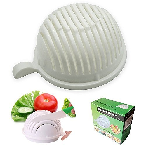 Ammiy Vegetable Salad Cutter Bowl, 8.3×7.5×4 in