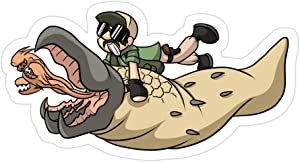 Sneaky Cover (3 PCs/Pack) Tremors 3x4 Inch Die-Cut Stickers Decals for Laptop Window Car Bumper Helmet Water Bottle