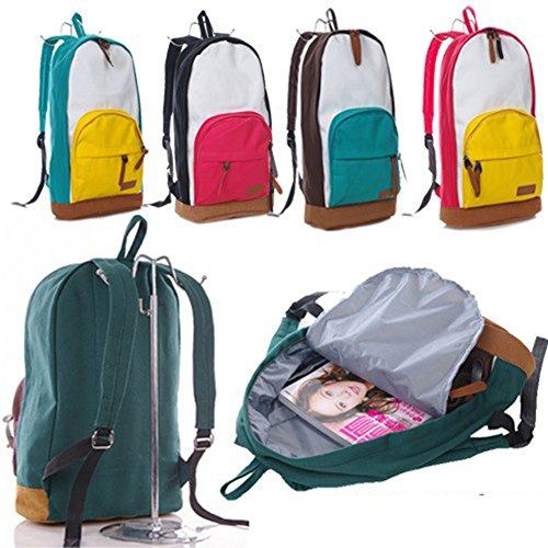 E9Q Mujer Chicas Book Bag Lona Mochila Mochila Escolar Bolso Viaje Satchel !!Estilo E