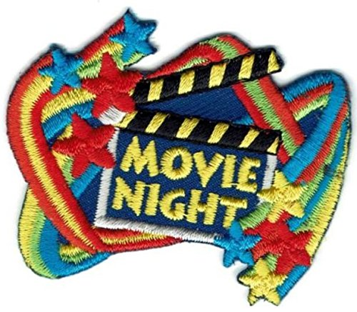 Cub Girl Boy MOVIE NIGHT Embroidered Iron-On Fun Patch Crests Badge Scout Guides