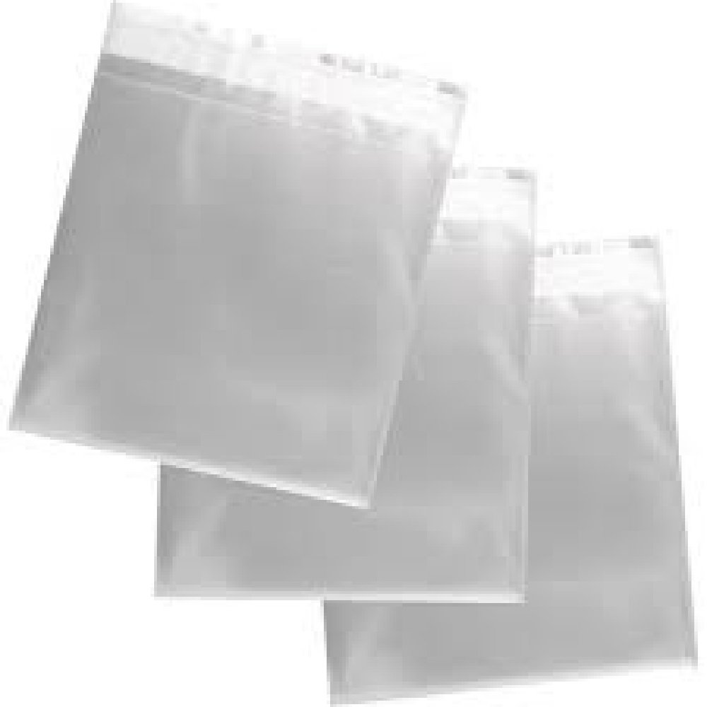 DALTON MANOR 8' X 8' CELLO BAGS PACK OF 100 40MICRON HIGH QUALITY SELF SEAL