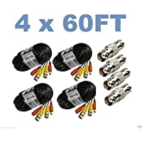 wennow (4)Pack 60ft Pre-made All-in-One Video and Power for Lorex CCTV Security Camera