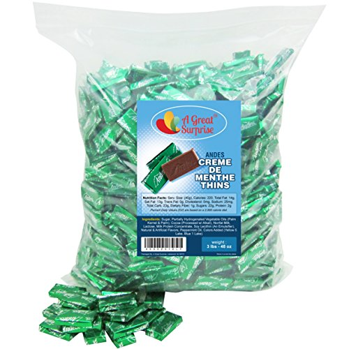 Andes Mints - Andes Creme De Menthe Thins, 3 LB Bulk Candy Sour Cream Cookies Christmas