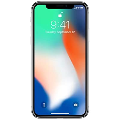 "Apple iPhone X, GSM Unlocked 5.8"", 64 GB - Silver"