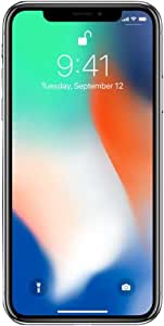 "Apple iPhone X, GSM Unlocked 5.8"", 64 GB - Silver"