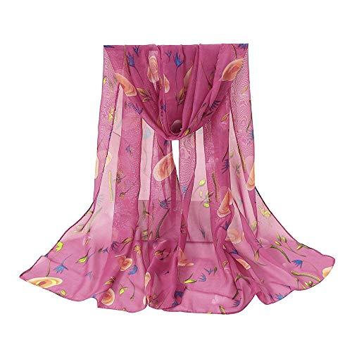 HYIRI Fashion Women's Flower Printing Long Soft Wrap Scarf Shawl Scarves Elegant Atmosphere headkerchief