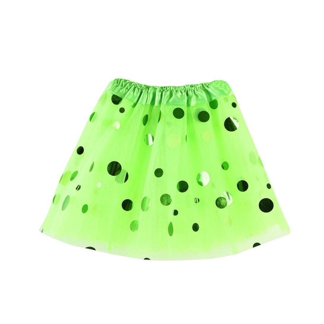 Inkach Baby Tutu Skirt - Toddler Girls Polka Dot Printed Ballet Skirts Dance Fluffy Tulle Petticoat (Green)