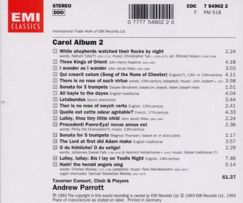 Carol Album, Vol. 2: Taverner Consort, Choir & Players- Andrew Parrott