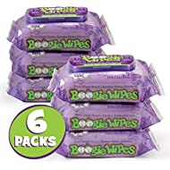Boogie Wipes, Wet Wipes for Baby and Kids, Nose, Face, Hand and Body, Soft and Sensitive Tissue Made with Natural Saline, Aloe, Chamomile and Vitamin E, Grape Scent, 30 Count (Pack of 6)