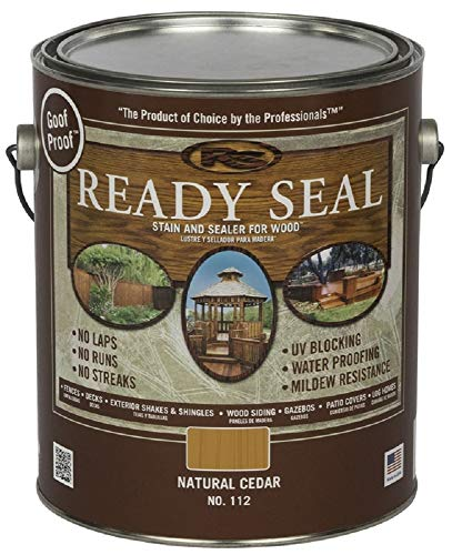 Ready Seal 112 Natural Cedar Exterior Wood Stain and Sealer, 1 Gallon (Pack of 4) (Best Stain For Playset)