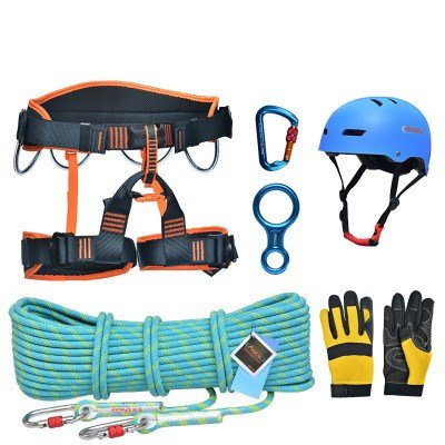 ASOL TZSJ02A Outdoor Rock Climbing Survival Rescue Ki 10 Meters