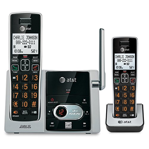 ATT CL82213 DECT 6.0 Expandable Cordless Phone System with Digital Answering - Digital Answer System