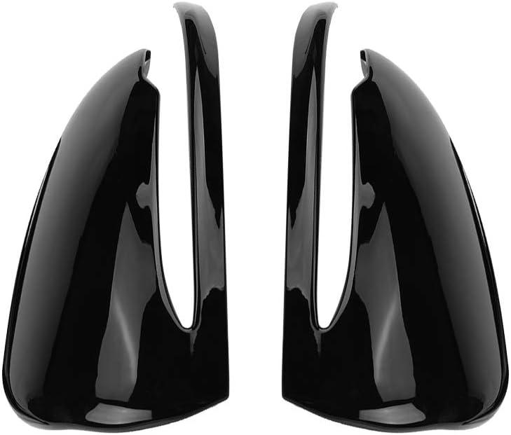 Merced es Car Rearview Mirror CapChrome Plastic ABS Side Mirror Cover Trim for Ben z C-Class W205 E-Class W213 GLC-Class X253 Piano Black