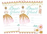 Ballet Themed Dance and Twirl with Me Party Invitations Supply Decoration Decor (Invite)