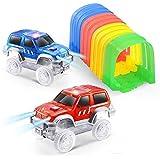 ONTOPON DIY Track Accessory with 2 Toy Car- Tunnel add LED Car (2 car)