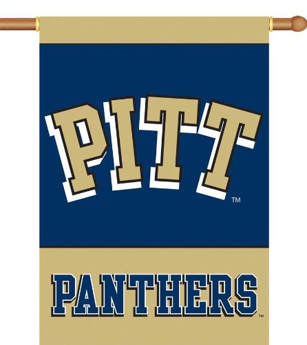 Cheap NCAA Pittsburgh Panthers 2-Sided 28-by-40 inch House Banner with Pole Sleeve