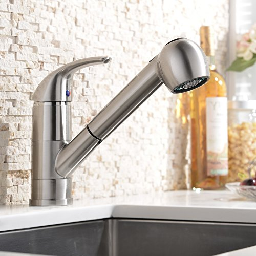 Best Kitchen Sink Faucets: Best Single Handle Pull Out Down Sprayer Kitchen Sink