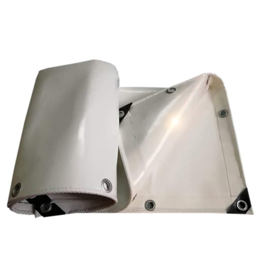ターポリン 厚手防水防水ターポリントラックターポリンナイフ掻き布-650g / m 2、厚さ:0.65 mm、白 (Size : 3m*4m) B07SX64FJ2  3m*4m