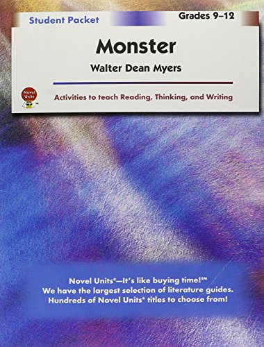Monster - Student Packet By Novel Units, Inc.