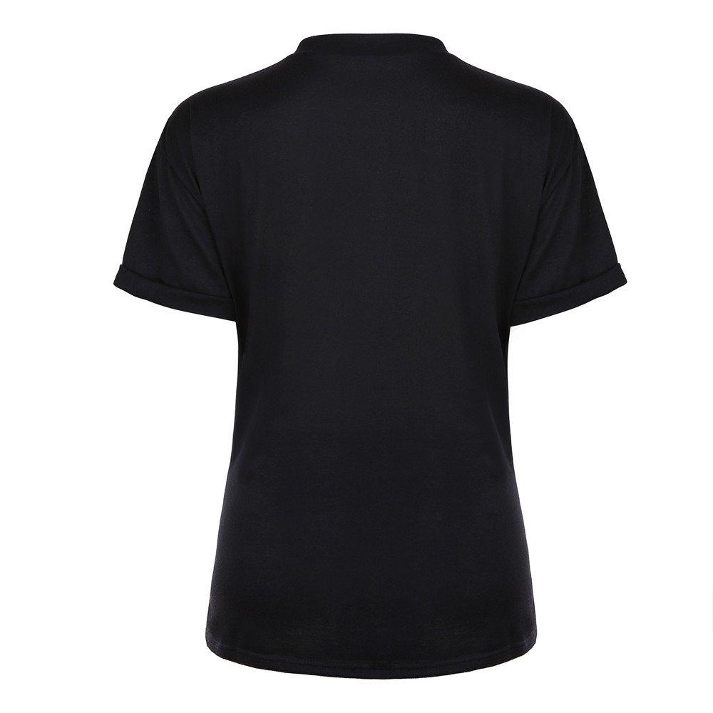 Zilosconcy Camisas Mujer, Top de pestañas de Verano para Mujer Blusa de Manga Corta Tops Sueltos Ocasionales Camiseta de Algodón con Inscripción T-Shirt: ...