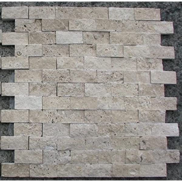 Marble N Things Split Face 1x2 Classic Beige Travertine For Kitchen Bathroom Backsplash Exterior Use Marble Tiles