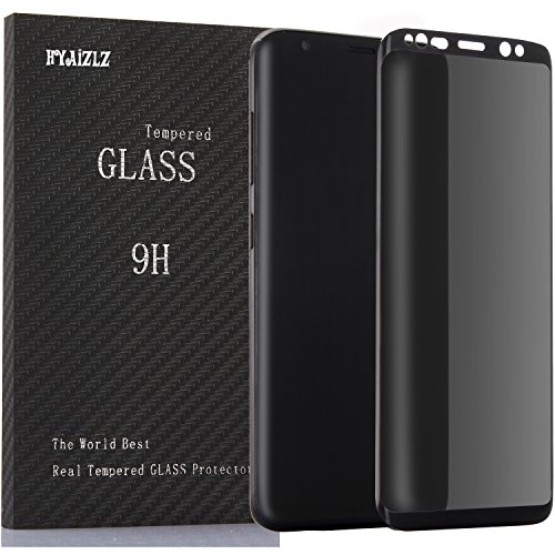 Galaxy S8 Plus Privacy Screen Protector,HYAIZLZ(TM) 9H Hardness Tempered Glass Anti-Spy Screen Protector Shield for Samsung Galaxy S8 Plus,Color Black