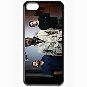 Personalized iPhone 5C Cell phone Case/Cover Skin Animals As Leaders House Street Tie Bristle Black