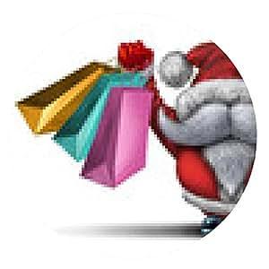 alfombrilla de ratón De compras de Navidad - ronda - 20cm