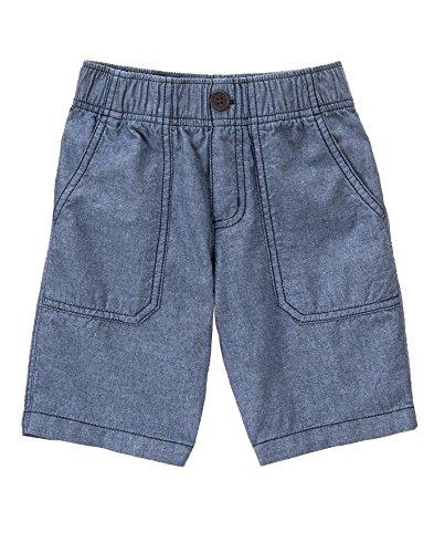 Gymboree Big Boys' Chambray Easy Short, Antique Denim, 8 Boys Elastic Waist Shorts