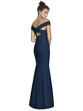 42197d7c0805e Dessy Collection Crepe Trumpet Full Length Off The Shoulder Special  Occasion Cocktail Dress 3012 at Amazon Women's Clothing store:
