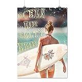 Ocean Air Salty Hair Surf Life Matte/Glossy Poster A3 (42cm x 30cm) | Wellcoda