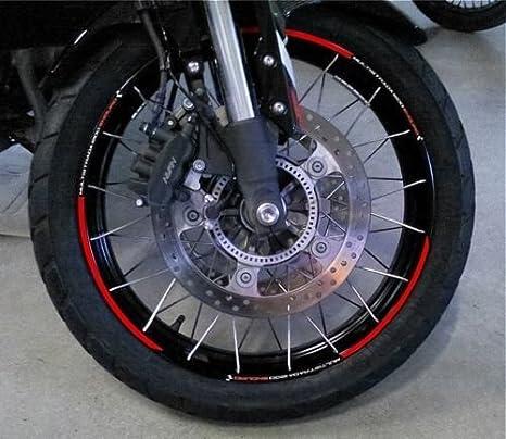 "TIRAS RUEDAS 17-19"" compatible para MOTO DUCATI MULTISTRADA 1200 ENDURO Rojo"
