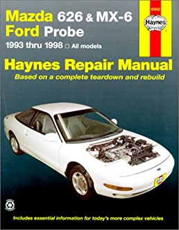 mazda 626 and mx 6 ford probe automotive repair manual 1993 to 1998 rh amazon co uk 1996 Mazda 626 2001 Mazda 626