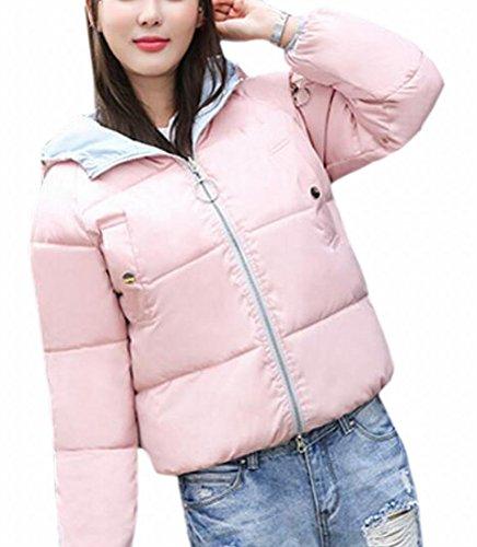 Reversible Jacket today Long Hooded UK Padded Womens Pink Lightweight Sleeve OFaqvpg