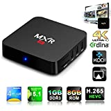 QacQoc MXR 4K Quad Core upgrade Android 5.1 Tv Box RK3229 with 1G / 8G Wifi Kodi 15.2 Fully Loaded Support H.265 Video Decoder LAN Miracast Video Playback Streaming Media Player