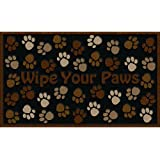 CleanScrape Deluxe Wipe Your Paws Door Mat, Brown, 18-Inch by 30-Inch