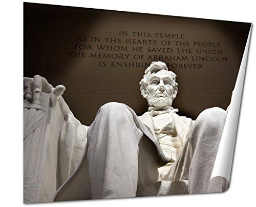 Ashley Giclee Fine Art Print, White Lincoln Statue Close Up Memorial Washington Dc, 16x20, - Is Memorial Mall City Where