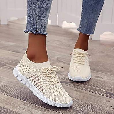 Basket Femme Mode Chaussures de Sports Homme Respirantes Athl/étique Baskets Chaussures de Course L/ég/ères Fitness Sneakers