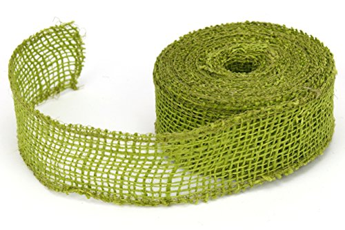 Apple Burlap Ribbon - Kel-Toy Jute Burlap Ribbon, 1.5-Inch by 10-Yard, Apple Green