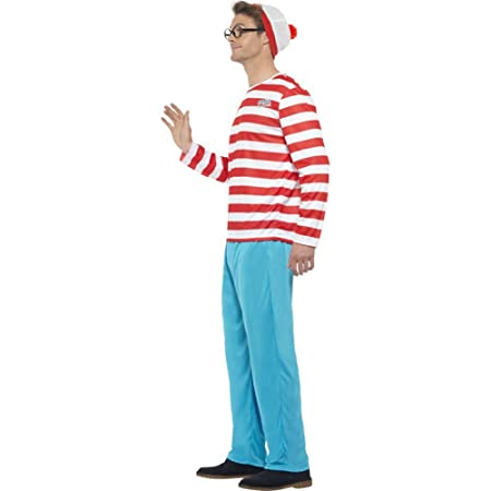 Mens Wheres Wally Fancy Dress Costume Mens Size Medium 38-40 ...