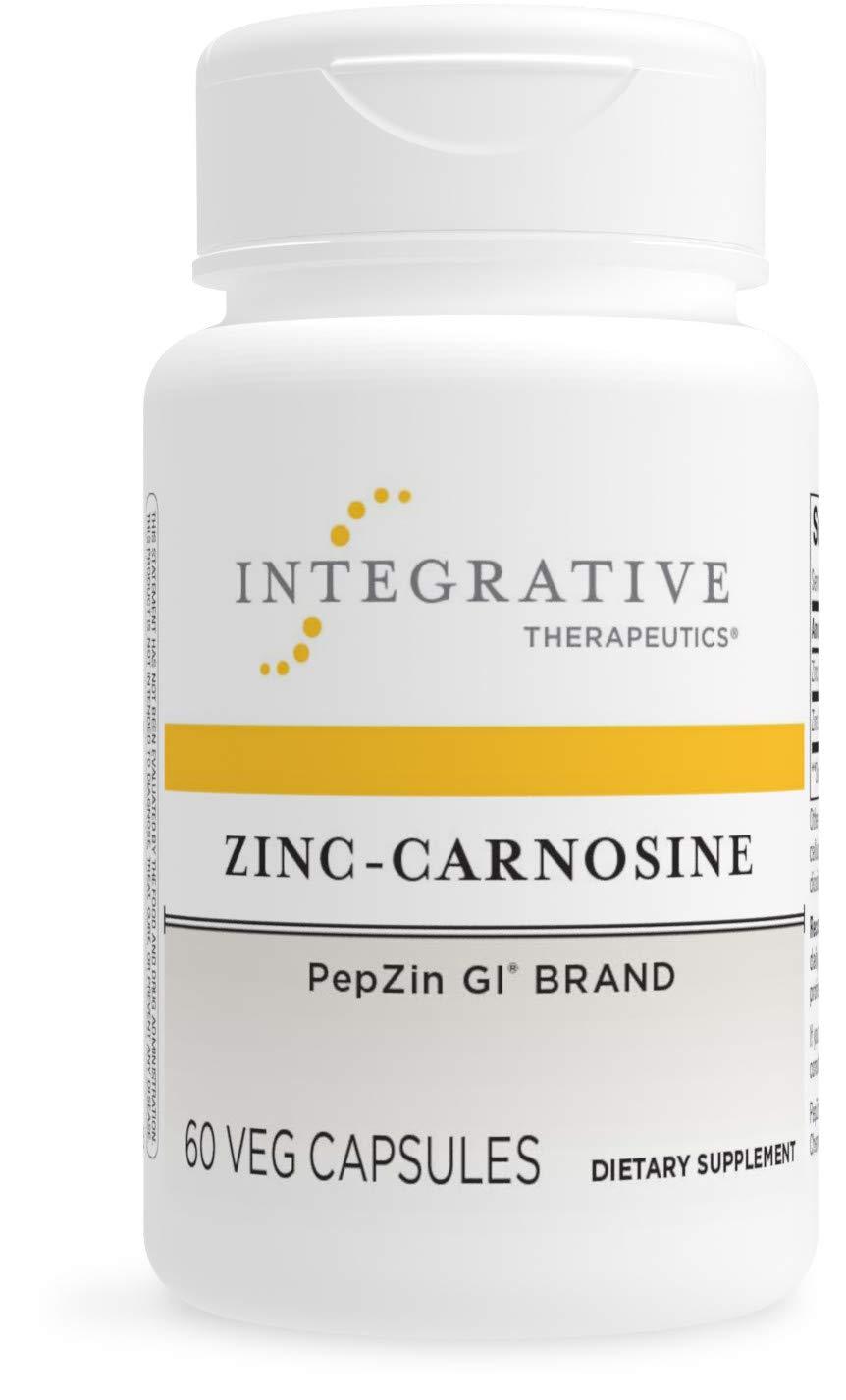 Integrative Therapeutics - Zinc Carnosine - PepZin GI - Elemental Zinc Suppplement - Stomach Lining Support - 75mg Zinc - 60 Capsules