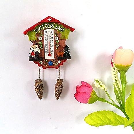 lvedu Swiss reloj de cuco resina imán para nevera frigorífico magnético pegatinas decoración del hogar regalo: Amazon.es: Hogar