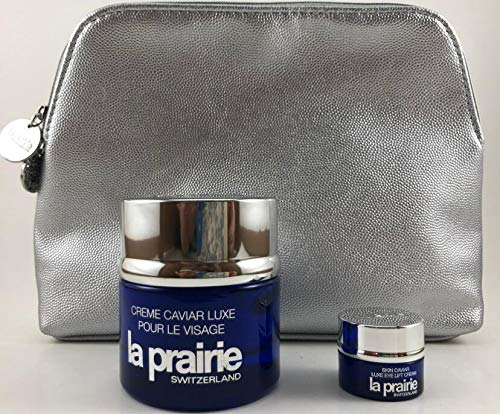 La Prairie Skin Caviar Luxe Cream 1.7oz+Skin Caviar Eye Lift Cream .1oz/3ml with purse