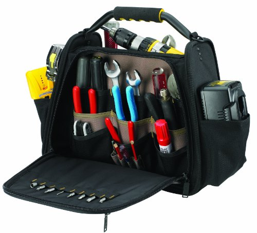 UPC 084298015748, Custom Leathercraft 1574 Open-and-Closed-Top Tool Carrier, 30-Pocket