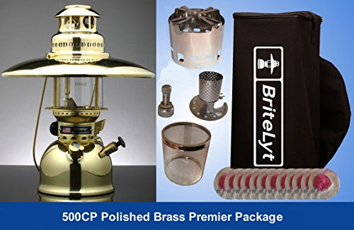 Kerosene Lantern One Mantle (BriteLyt, Petromax USA P.B. 500CP/XL Pressure Lantern Premier Package.)