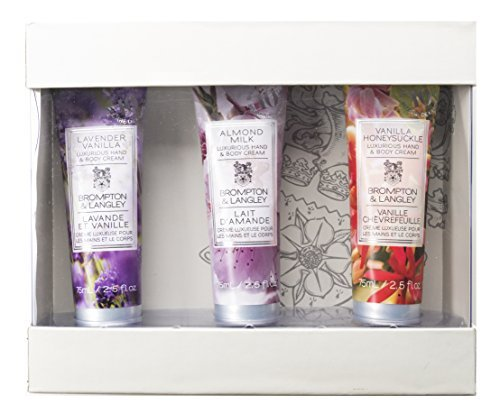 Upper Canada Soap Brompton and Langley 3-Piece Hand Cream Set, Lavender/Almond/Honeysuckle by Upper Canada - Langley Mall Stores