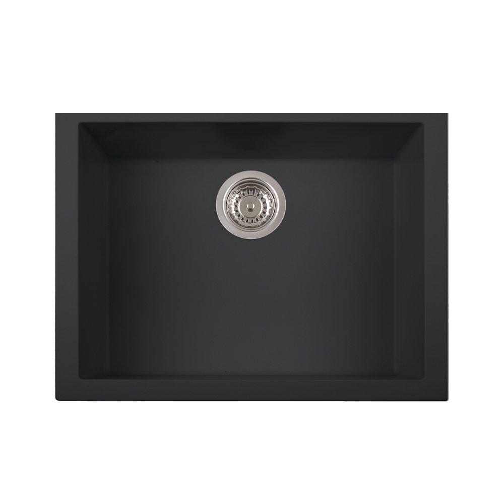 LaToscana ON6010ST - 70UG One Series Undermount Sink, Matt Black ...